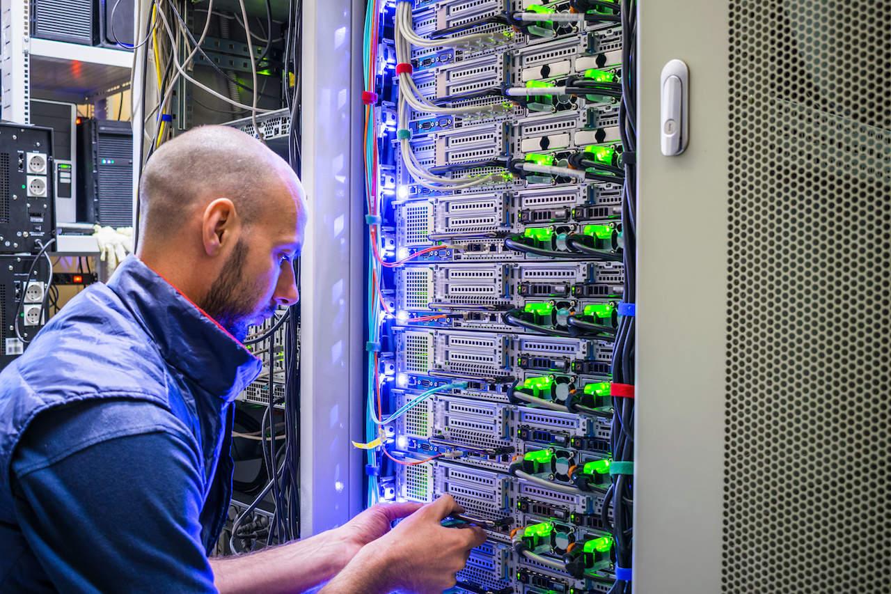 managed service provider working on IT infrastructure